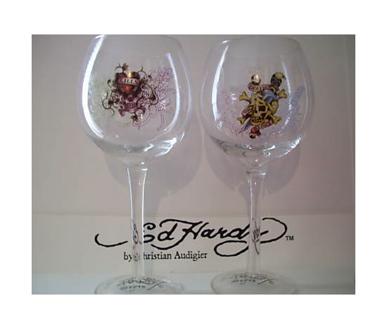Ed Hardy Wine Glasses