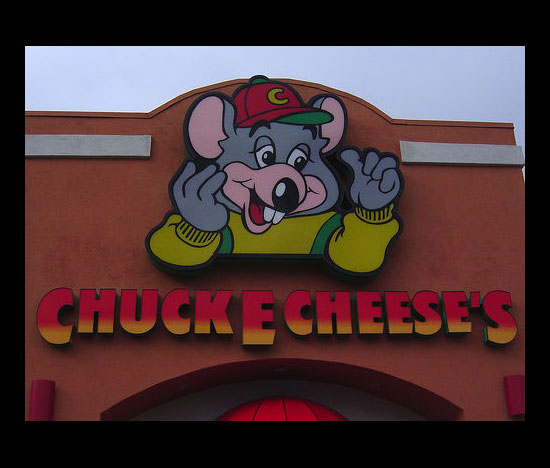 At Chuck-E-Cheese's