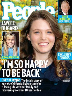 Front  Page: Jaycee Dugard Opens Up About Life After Rescue
