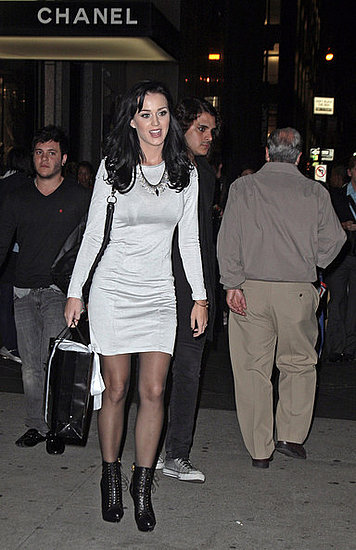 Katy Perry heads to the Dior,Chanel stores before heading to the Giuseppe Zanotti party