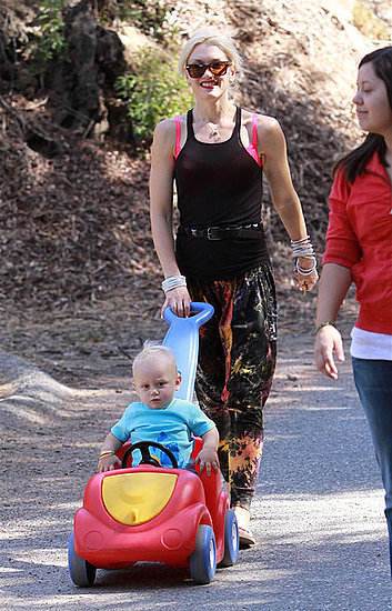 Gwen taking her kids to the park