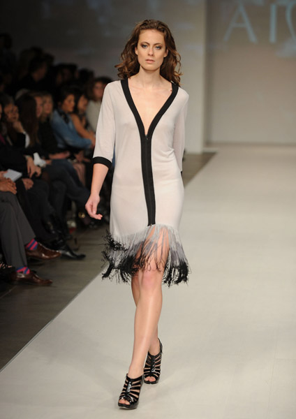 A look from Aime's Spring 2010 collection on 10/22/09