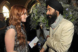 Lily Collins and Waris Ahluwalia