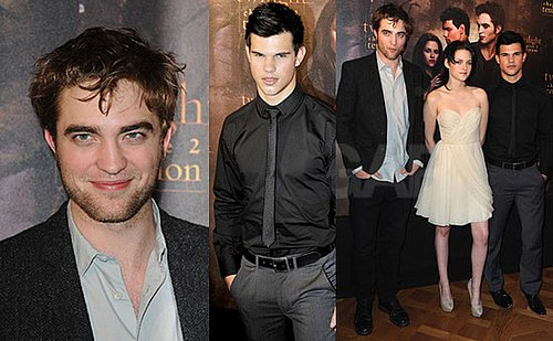 Photos of Robert Pattinson, Kristen Stewart and Taylor Lautner in Paris For New Moon