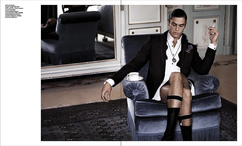 Karl Lagerfeld Photographs Baptiste Giabiconi and Iris Strubegger for VMAN Issue #16