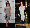 Who Wore It Better? Yves Saint Laurent Strapless Grey Dress