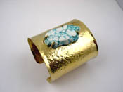 Cuff Raw Turquoise - Thumbnail
