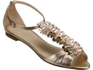 The Look For Less: Loeffler Randall Metallic Sandals