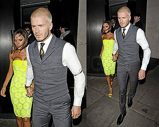 David and Victoria Beckham Dress Conservatively For Dinner