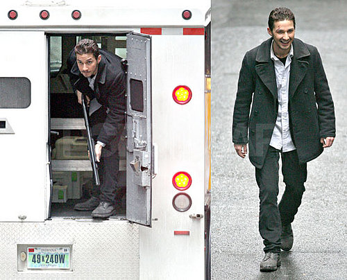 Shia LaBeouf on the Set of Eagle Eye