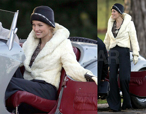 Jessica Biel Filming Easy Virtue