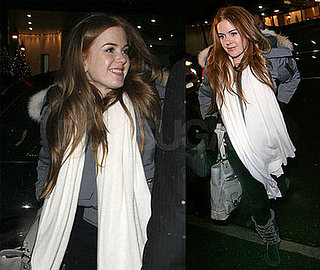 Isla Fisher Goes To Dinner At the Waverly Inn in NYC