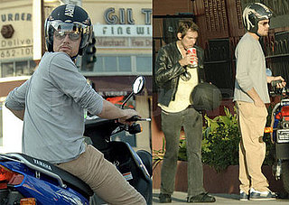 Leonardo DiCaprio Rides His Moped Around LA