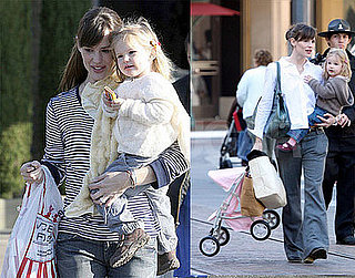 Jennifer Garner and Violet Affleck at the Market