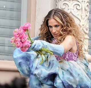 Sarah Jessica Parker Shoots Print Ads for the Sex and the City Movie in NYC on January 24, 2008