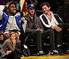 Shia LaBeouf, Kanye West, Ashton Kutcher at the Laker Game