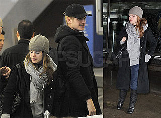 Rachel Bilson and Boyfriend Hayden Christensen at the Airport