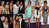 Whitney Houston, Lindsay Lohan, Carrie Underwood, Nicole Richie, Fergie at Clive Davis Pre-Grammy Party