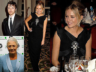 James McAvoy and Sienna Miller at the Awards of the London Film Critics Circle