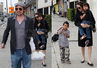 Brad and Angelina Get In Some Boy Time Before Big Weekend