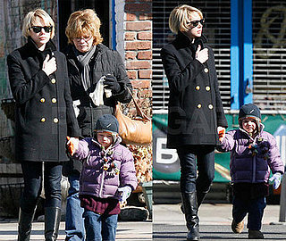 Michelle Williams and Matilda Ledger in Brooklyn 2008-02-21 11:48:57