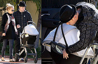 Nicole Richie and Joel Madden Take Harlow Out