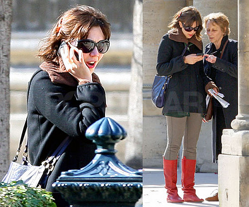 Maggie and Her Mom Stroll the Streets of Paris