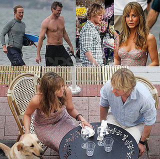 Images of Jennifer Aniston, Erica Dane and Owen Wilson in Miami filming Marley and Me