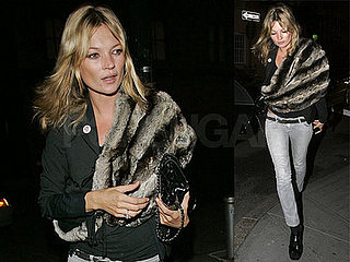 Kate Moss at the Waverly Inn in NYC