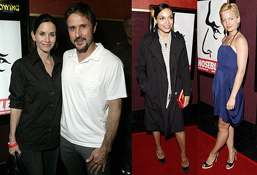 David and Courteney Arquette at the LA Premiere of Nosebleed