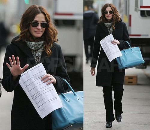 Julia Roberts Leaves the Set of Duplicity