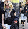 Madonna walking home from gym