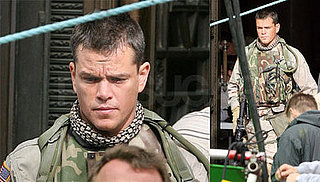 Matt Damon on the Set of Green Zone in London