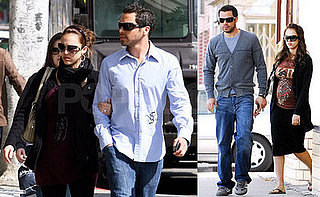 Pregnant Jessica Alba and Fiance Cash Warren Shop for Furniture