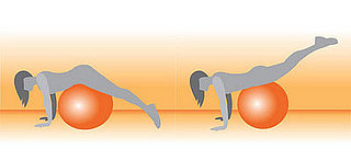 Exercise Ball Prone Leg Raise