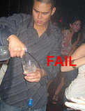 Bartender Wastes Alcohol: Fail
