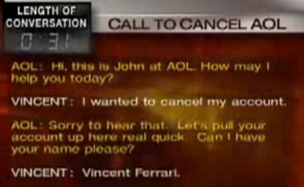 AOL Won't Let Go of Customers