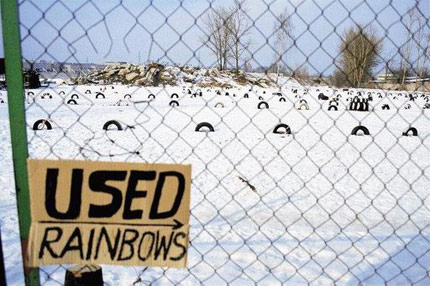 """Used Rainbows"" Sign"