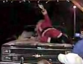 Santa Claus Falls Off the Roof