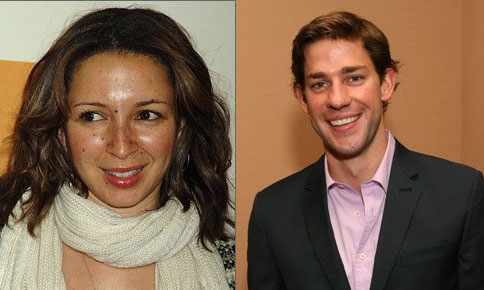 Maya Rudolph and John Krasinski in Romantic Comedy
