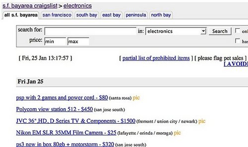 Using Craigslist and eBay to Buy Electronics
