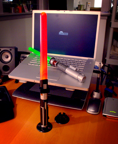 Lightsaber Desk Lamp: Totally Geeky or Geek Chic?