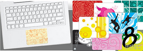 New Laptop Accessory: Colorful Trackpad Skins