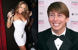Geeky Guy Jack McBrayer Touches Mariah Carey's Body