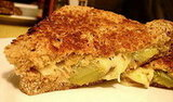 Grilled Gruyere With Braised Leeks