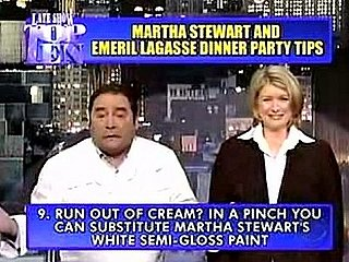 Martha and Emeril Offer Their Top Entertaining Tips