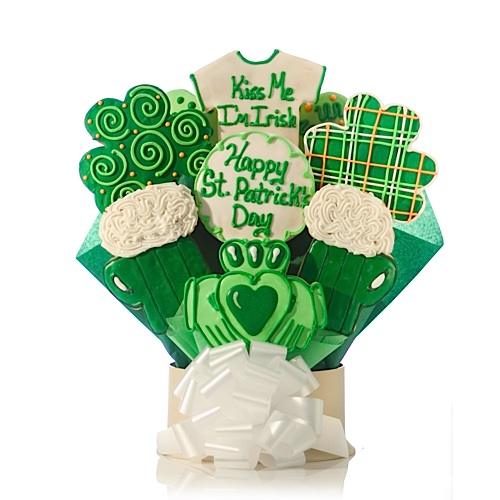 Kiss Me I'm Irish Cookie Bouquet