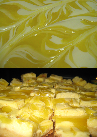Rippled Lemon Cheesecake