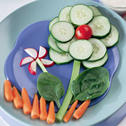 If you're planning on serving a tray of crudité, why not make it festive by creating this Vegetable Flowers with Homemade Ranch Dip.
