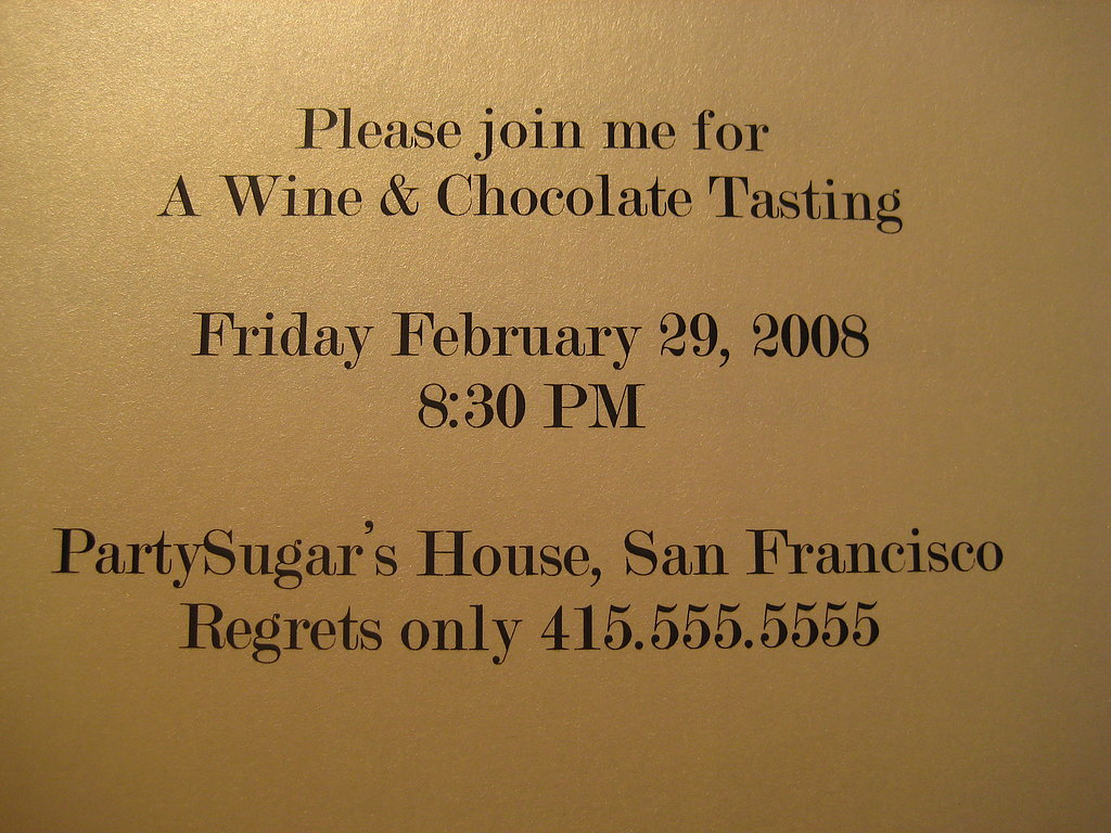 Wine and Chocolate Tasting Invite: Step by Step